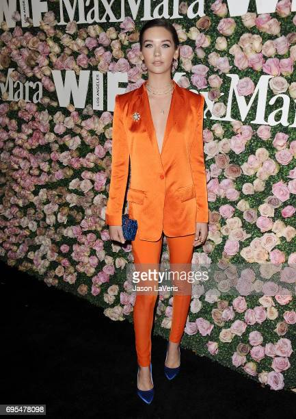 Amanda Steele attends Max Mara and Vanity Fair's celebration of Women In Film's Face of the Future Award recipient Zoey Deutch at Chateau Marmont on...
