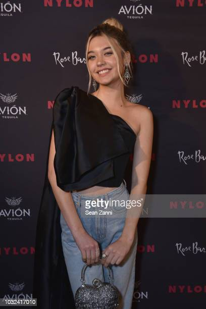 Amanda Steele attends NYLON's Annual Rebel Fashion Party at Gramercy Park Hotel Rose Bar at Gramercy Park Hotel on September 12 2018 in New York City