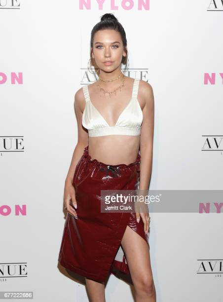 Amanda Steele attends NYLON's Annual Young Hollywood May Issue Event With Cover Star Rowan Blanchard at Avenue on May 2 2017 in Los Angeles California