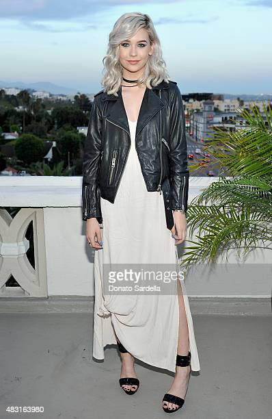 Amanda Steele attends Teen Vogue x Simon BTSS Kickoff Dinner on August 5 2015 in Los Angeles California