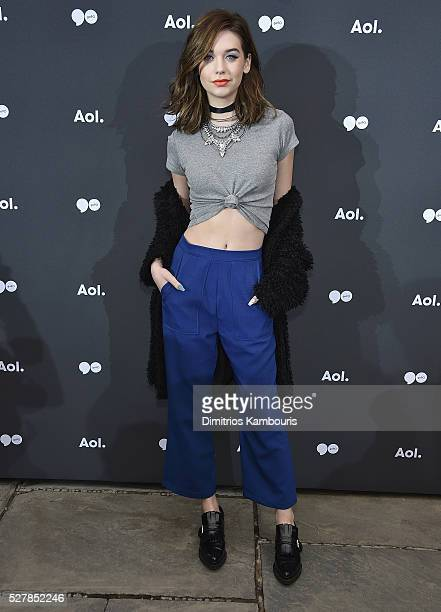 Amanda Steele attends the AOL NewFront 2016 at Seaport District NYC on May 3 2016 in New York City