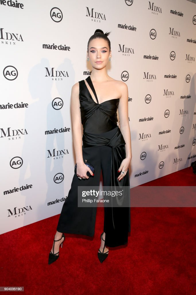 Amanda Steele attends the Marie Claire's Image Makers Awards 2018 on January 11, 2018 in West Hollywood, California.