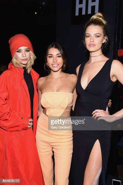 Amanda Steele Madison Beer and Hailey Clauson attend the Cushnie Et Ochs fashion show during February 2017 New York Fashion Week at Gallery 1...