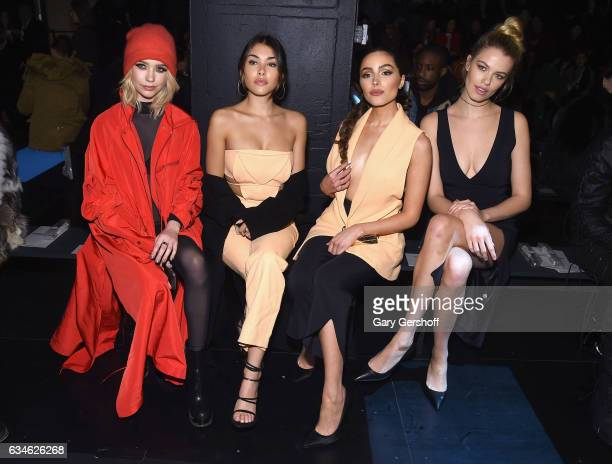 Amanda Steele Madison Beer Olivia Culpo and Hailey Clauson attend the Cushnie Et Ochs fashion show during February 2017 New York Fashion Week at...
