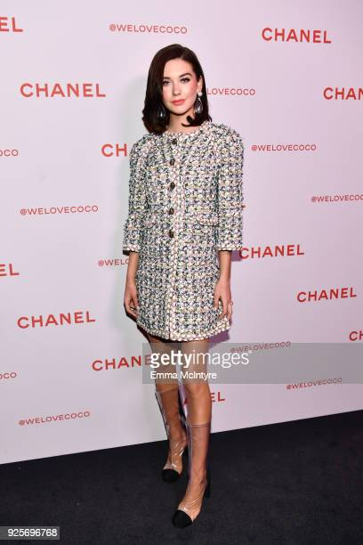 Amanda Steele wearing Chanel attends a Chanel Party to celebrate the Chanel Beauty House and @WELOVECOCO at Chanel Beauty House on February 28 2018...
