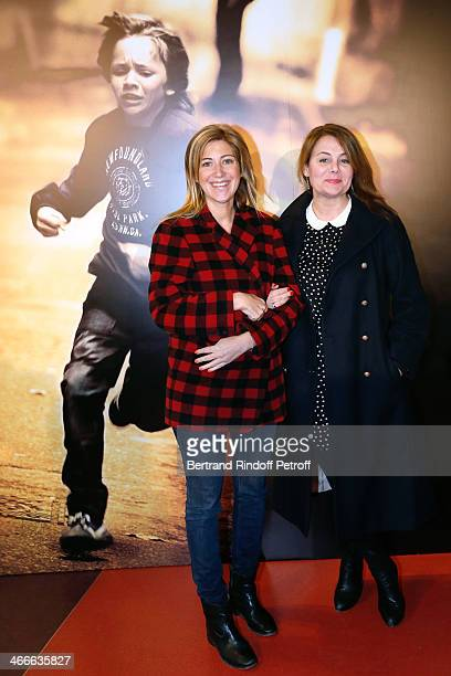 Amanda Sthers and Ariane Seguillon attend the 'Mea Culpa' Paris premiere held at Gaumont Opera on February 2 2014 in Paris France