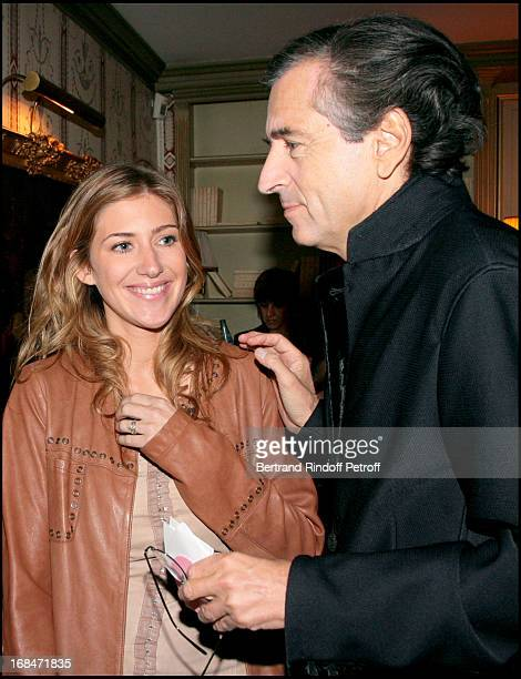 Amanda Sthers and Bernard Henri Levy at The 9th Bal Jaune With La Fondation D'Entreprises Ricard And Beaux Arts Magazine Held At Le Doyen Restaurant...