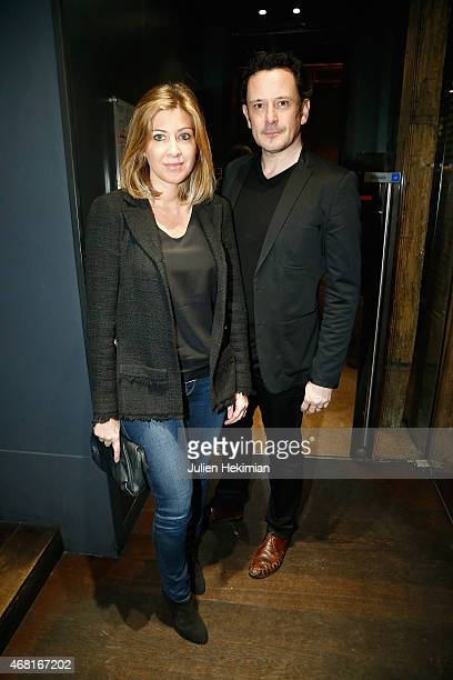 Amanda Sthers and guest attend 'L'Atelier Maitre Albert' Cocktail In Paris on March 30 2015 in Paris France