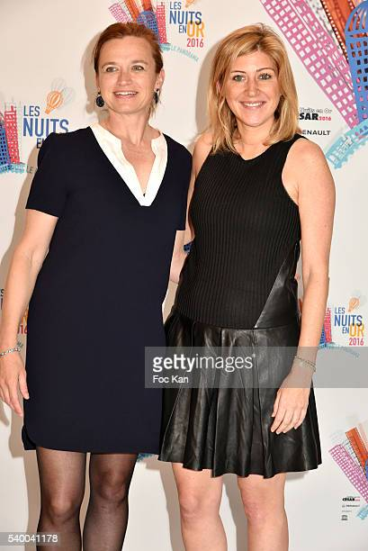 Amanda Sthers and Hester Overmars attend 'Les Nuits en Or 2016' Dinner Gala Photocall at Unesco on June 13 2016 in Paris France