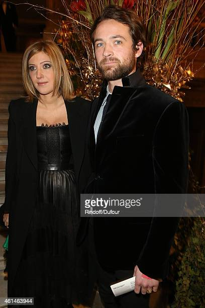 Amanda Sthers and Louis Marie Castelbajac attend the Pasteur Weizmann Institute 40th anniversary celebration at Opera Farnier in Paris at Opera...