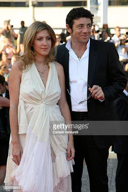Amanda Sthers and Patrick Bruel during 2007 Cannes Film Festival Les Chansons d'Amour Premiere at Palais des Festivals in Cannes France