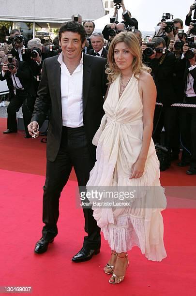 Amanda Sthers and Patrick Bruel during 2007 Cannes Film Festival 'Les Chansons d'Amour' Premiere at Palais des Festivals in Cannes France