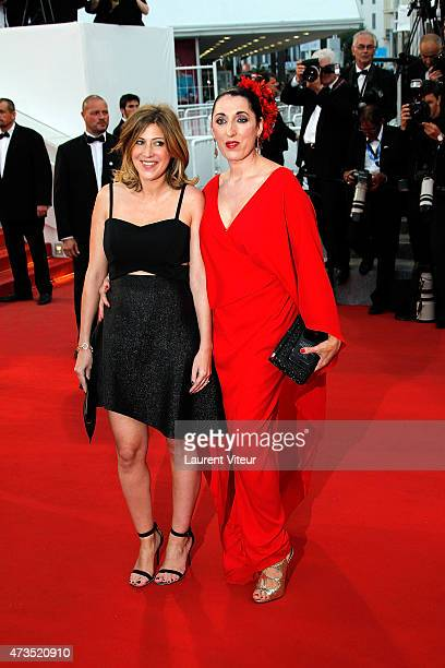 Amanda Sthers and Rossy de Palma attend the 'Irrational Man' premiere during the 68th annual Cannes Film Festival on May 15 2015 in Cannes France