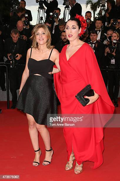 Amanda Sthers and Rossy de Palma attends the 'Irrational Man' premiere during the 68th annual Cannes Film Festival on May 15 2015 in Cannes France