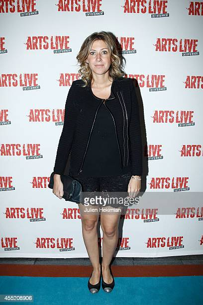 Amanda Sthers attends 'Open Space' Premiere At Theatre du Rond Point on September 10 2014 in Paris France