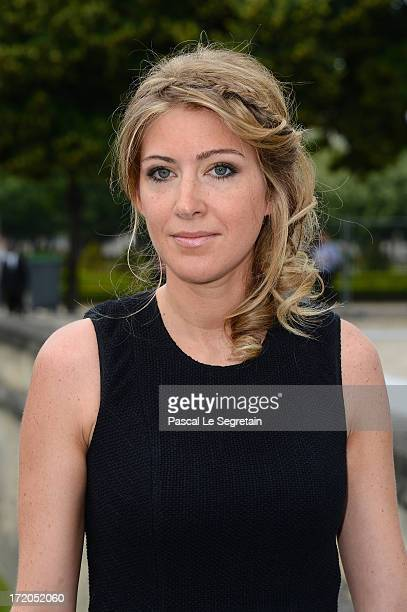 Amanda Sthers attends the Christian Dior show as part of Paris Fashion Week HauteCouture Fall/Winter 20132014 at Hotel Des Invalides on July 1 2013...