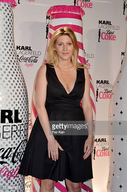 Amanda Sthers attends the CocaCola Light Karl Lagerfeld New Collaboration Celebration Cocktail at Le Georges on April 7 2011 in Paris France
