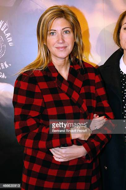 Amanda Sthers attends the 'Mea Culpa' Paris premiere held at Gaumont Opera on February 2 2014 in Paris France