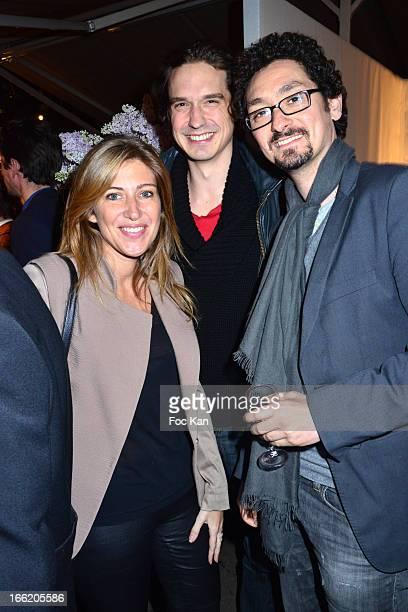 Amanda Sthers Nicolas Tretkoff and David Foenkinos attend La Closerie Des Lilas Litterary Awards 2013 6th Edition At La Closerie Des Lilas on April 9...
