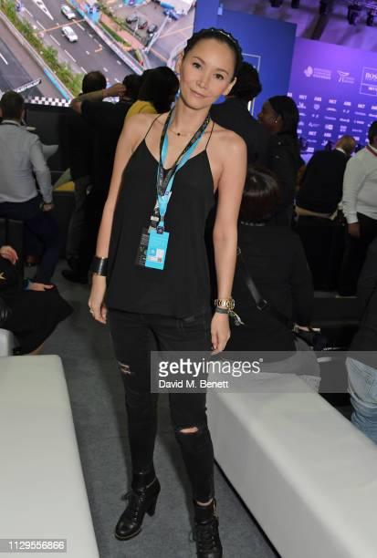 Amanda Strang attends the ABB FIA Formula E HKT Hong Kong EPrix on March 10 2019 in Hong Kong