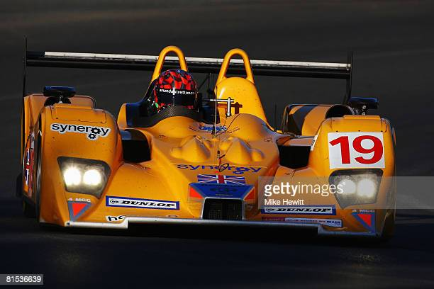 Amanda Stretton of Great Britain drives the Team Chamberlin LolaAER during qualifying for the 76th running of the Le Mans 24 Hour race at the Circuit...