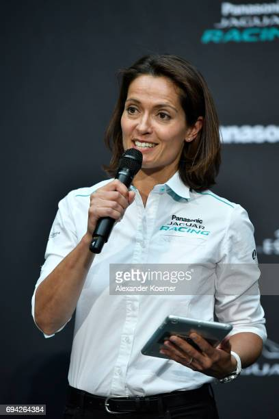 Amanda Stretton speaks during a panel discussion at the Jaguar Recharge Event at the British Embassy on June 9 2017 in Berlin Germany