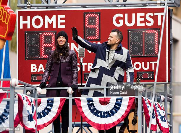 Amanda Sudano and Abner Ramirez of Johnnyswim attend the 90th Annual Macy's Thanksgiving Day Parade on November 24 2016 in New York City