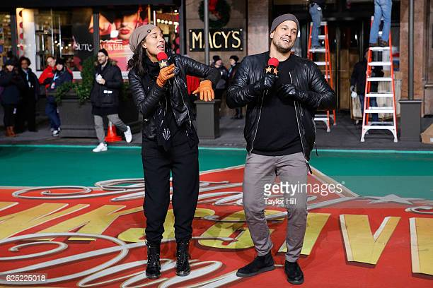 Amanda Sudano and Abner Ramirez of JOHNNYSWIM perform during Macy's Thanksgiving Day Parade rehearsals on November 22 2016 in New York City