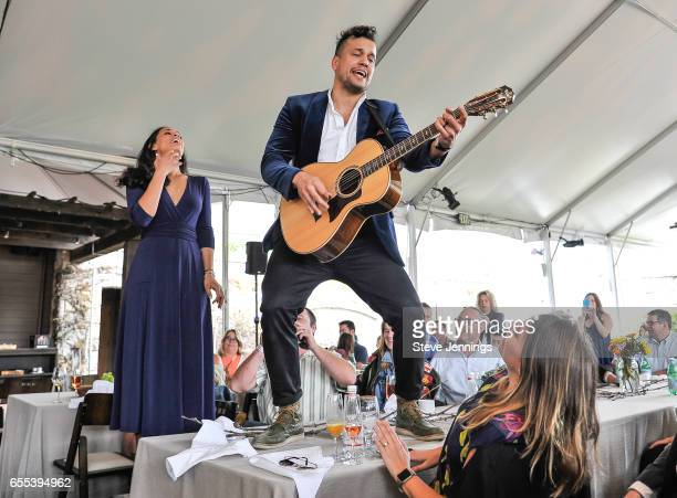 Amanda Sudano and Abner Ramirez of Johnnyswim perform on Day 4 of the 3rd Annual Yountville Live Music Food Wine Festival on March 19 2017 in...