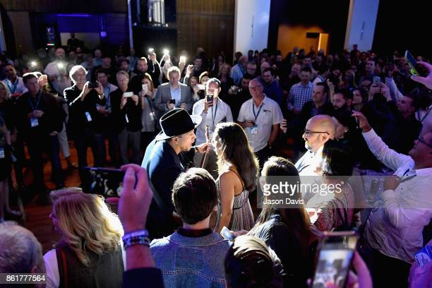 Amanda Sudano and Abner Ramirez of the folk duo Johnnyswim perform onstage at the Paradigm Party during IEBA 2017 Conference on October 15 2017 in...