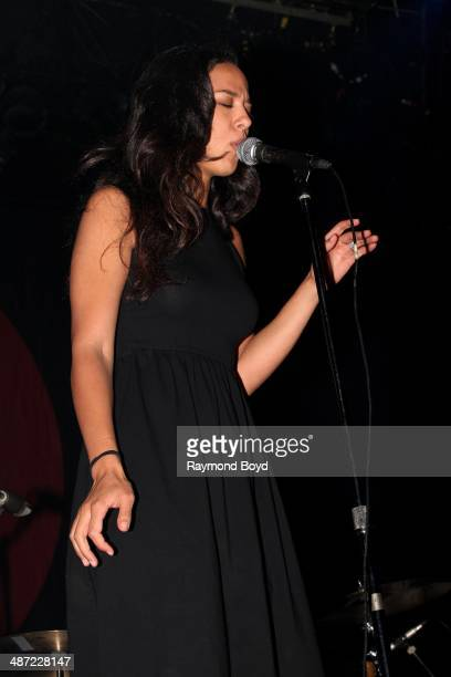 Amanda Sudano daughter of the late Donna Summer and of Johnnyswim performs during the Global Citizen Nights concert at the Vic Theatre on April 24...
