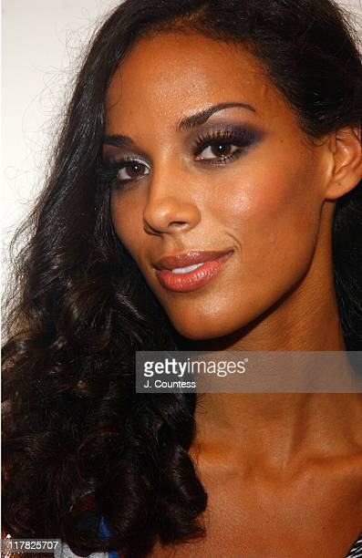 Amanda Sudano wearing House of Diehl Spring 2005 during Olympus Fashion Week Spring 2005 House of Diehl Backstage and Front Row at Dietch Gallery in...