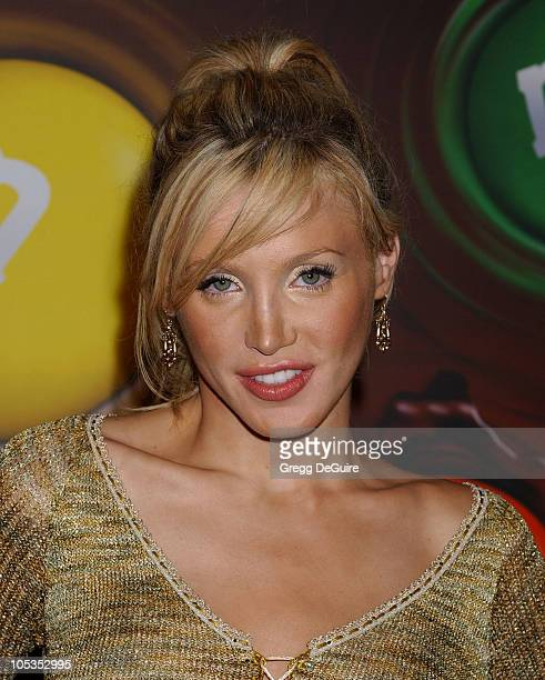 Amanda Swisten during Experience The Color Of MM's Arrivals at The MM's Brand City in Hollywood California United States