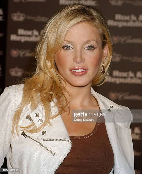 Amanda Swisten during MercedesBenz Spring 2005 LA Fashion Week at Smashbox Studios Cadillac Presents Rock Republic Spring 2005 Fashion Show Arrivals...