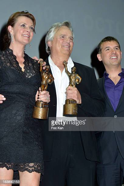 Amanda Tapping and Richard Dean Anderson attend the Jules Vernes Awards 20th Anniversay Ceremony - 'Tribute To Richard Dean Anderson' at the Grand...