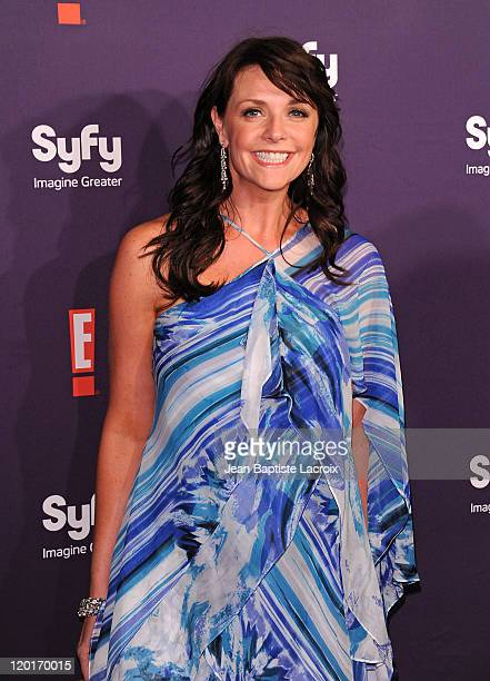 Amanda Tapping arrives at SyFy/E ComicCon Party at Hotel Solamar on July 23 2011 in San Diego California