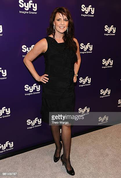 Amanda Tapping attends the 2010 Syfy Upfront party at The Museum of Modern Art on March 16 2010 in New York City