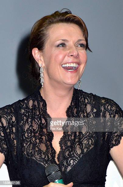 Amanda Tapping attends the Jules Vernes Awards 20th Anniversay Ceremony 'Tribute To Richard Dean Anderson' at the Grand Rex on October 10 2012 in...