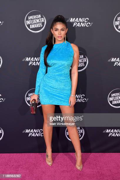 Amanda Trivizas attends the 2nd Annual American Influencer Awards at Dolby Theatre on November 18 2019 in Hollywood California