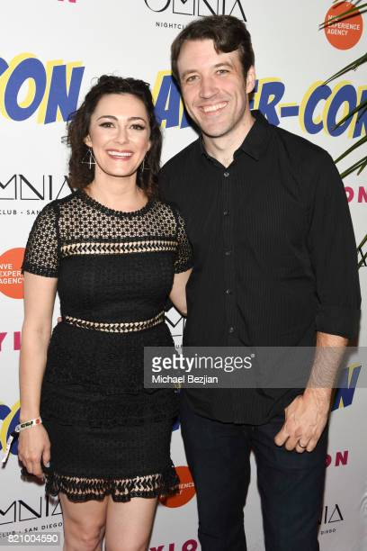 Amanda Troop and Brandon Jones attend NYLON And NVE | The Experience Agency Present AfterCon At OMNIA San Diego at Omnia Nightclub on July 22 2017 in...