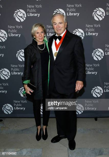 Amanda Urban and Ken Auletta attends the New York Public Library 2017 Library Lions Gala at the New York Public Library at the Stephen A Schwarzman...