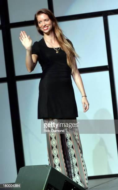 Amanda Valentine of Project Runway attends the TJ Martell Foundation 2013 Nashville Is Nowville charity event at Corporate Flight Management Hangar...