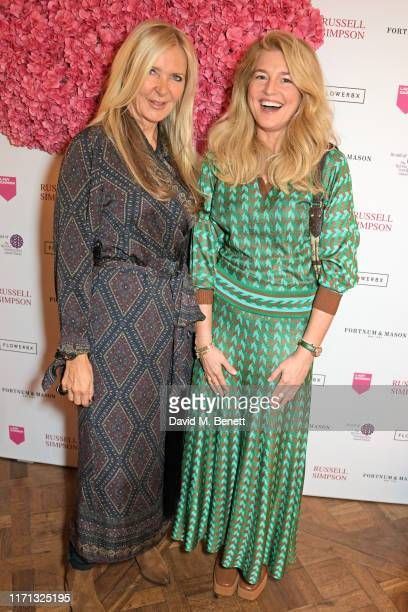 Amanda Wakeley and Avery Agnelli attend the 6th annual Lady Garden Foundation ladies lunch at Fortnum Mason on September 26 2019 in London England