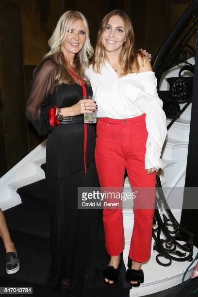Amanda Wakeley and Becky Tong attend the Amanda Wakeley LFW Party on September 14 2017 in London England