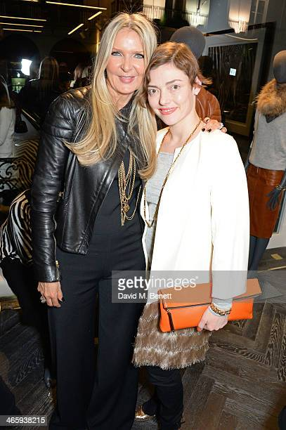 Amanda Wakeley and Camilla Rutherford attend the launch of the Amanda Wakeley London flagship store on January 30 2014 in London England