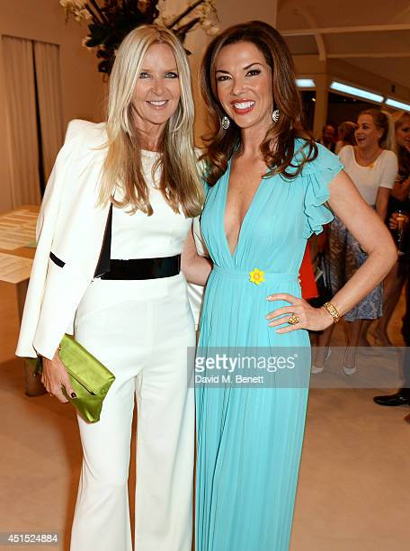 Amanda Wakeley and Heather Kerzner arrive at The Masterpiece Marie Curie Party supported by JaegerLeCoultre and hosted by Heather Kerzner at The...