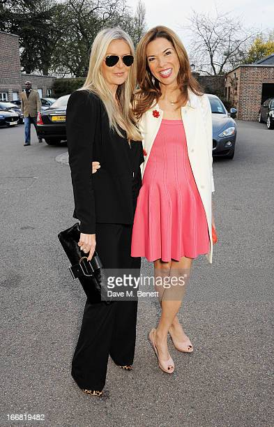 Amanda Wakeley and Heather Kerzner attend a VIP dinner hosted by Maserati to unveil the new 'Quattroporte' at The Hurlingham Club on April 17 2013 in...