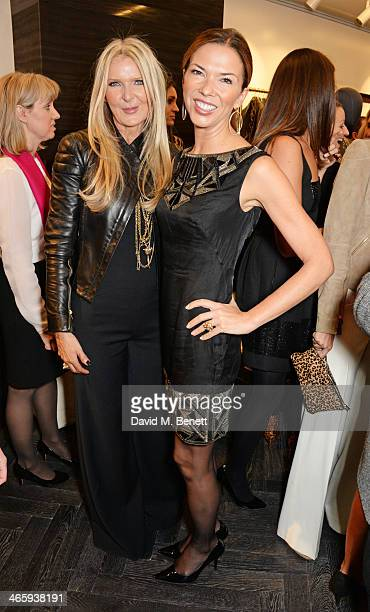Amanda Wakeley and Heather Kerzner attend the launch of the Amanda Wakeley London flagship store on January 30 2014 in London England