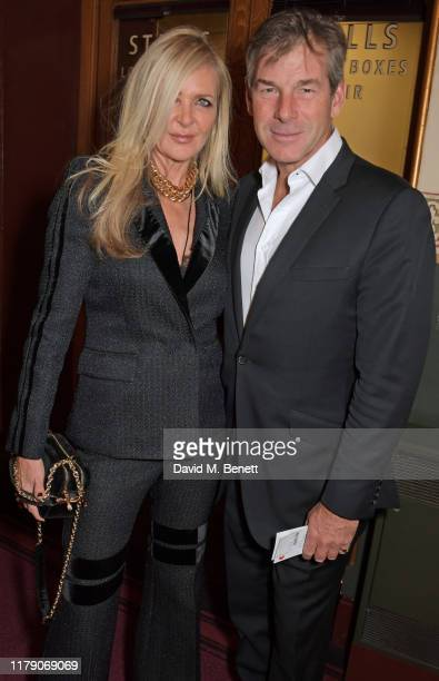 Amanda Wakeley and Hugh Morrison attend A Night At Ronnie Scotts 60th Anniversary Gala at the Royal Albert Hall on October 30 2019 in London England