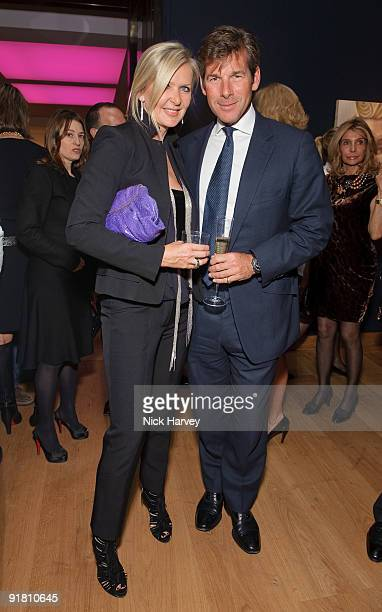 Amanda Wakeley and Hugh Morrison attend reception hosted by Graff held in aid of FACET at Christie's King Street on October 12 2009 in London England